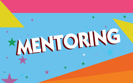 Text sign showing Mentoring. Conceptual photo To give advice or support to a younger less experienced demonstrating.
