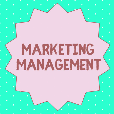 Text sign showing Marketing Management. Conceptual photo Develop Advertise Promote a new Product or Service. Stok Fotoğraf - 109744221