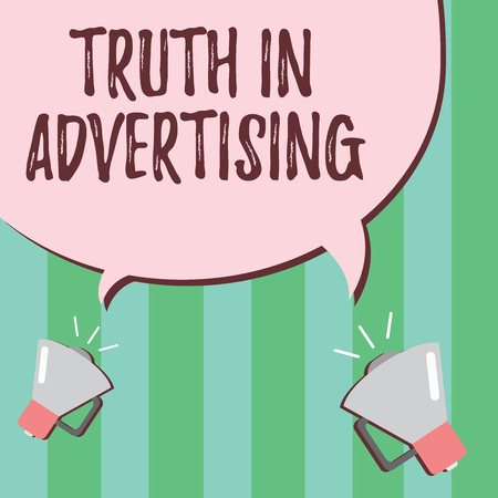 Word writing text Truth In Advertising. Business concept for Practice Honest Advertisement Publicity Propaganda. Stock Photo