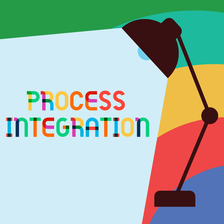 Text sign showing Process Integration. Conceptual photo Connectivity of Systems Services and Information. 스톡 콘텐츠