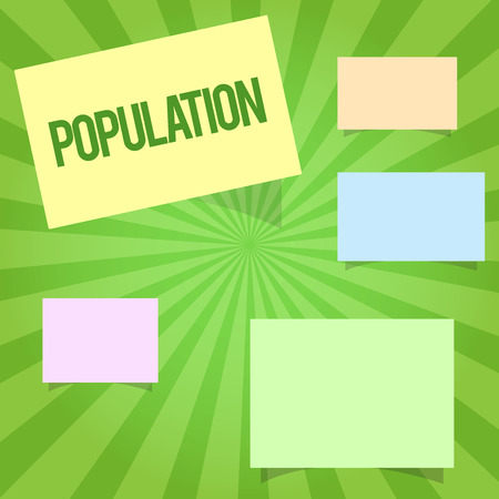Handwriting text writing Population. Concept meaning All the inhabitants of a particular place People density. Stockfoto