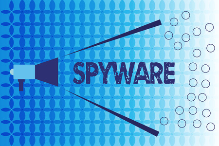Word writing text Spyware. Business concept for Software that enables user obtain information about other computer.