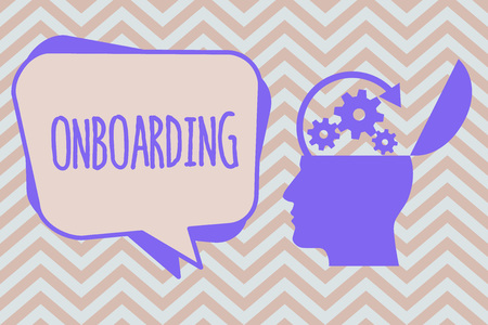Word writing text Onboarding. Business concept for Action Process of integrating a new employee into an organization.