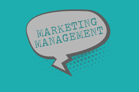 Conceptual hand writing showing Marketing Management. Business photo text Develop Advertise Promote a new Product or Service. Stok Fotoğraf