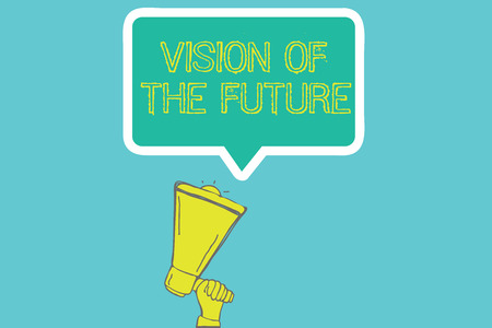 Word writing text Vision Of The Future. Business concept for Seeing something Ahead a Clear Guide of Action. Stok Fotoğraf