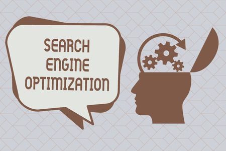 Text sign showing Search Engine Optimization. Conceptual photo maximizing the number ofWebsite Visitors. Imagens