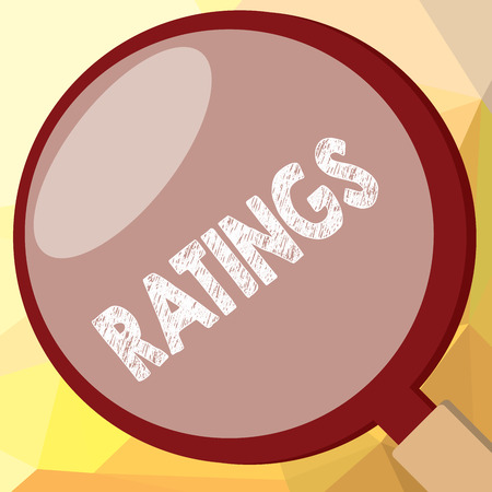 Writing note showing Ratings. Business photo showcasing Classification Ranking Quality Perforanalysisce Standards comparison. Stock Photo