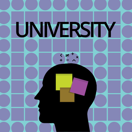 Conceptual hand writing showing University. Business photo text Highlevel educational institution students study for degrees.