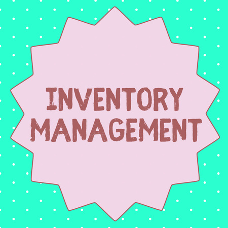 Text sign showing Inventory Management. Conceptual photo Overseeing Controlling Storage of Stocks and Prices. Stock Photo