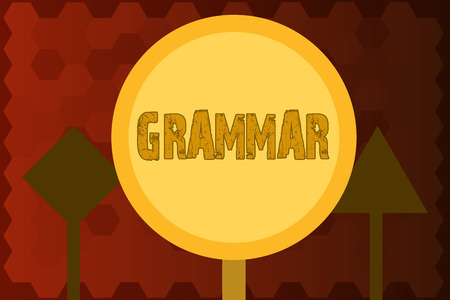 Text sign showing Grammar. Conceptual photo System and Structure of a Language Correct Proper Writing Rules. Stock Photo