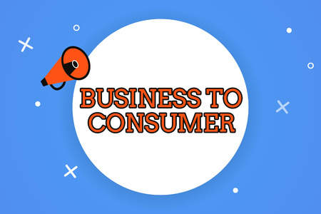 Word writing text Business To Consumer. Business concept for Direct Transaction between a Company and end users.