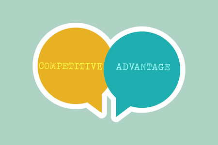 Handwriting text writing Competitive Advantage. Concept meaning Company Edge over another Favorable Business Position.