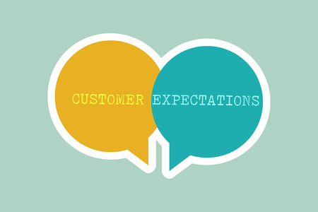Handwriting text writing Customer Expectations. Concept meaning Benefits a Client Expect Surpass the needs and wants.