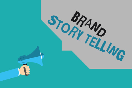 Writing note showing Brand Story Telling. Business photo showcasing Breathing Life into a Brandan Engaging Content.