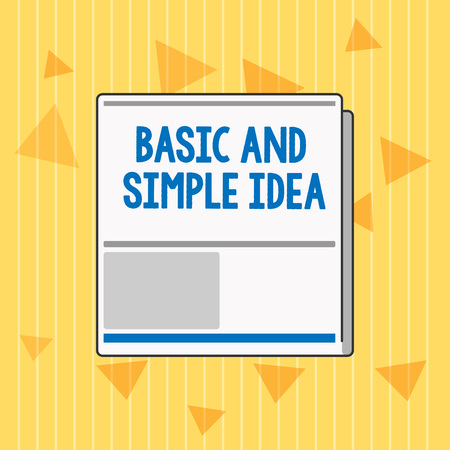 Handwriting text Basic And Simple Idea. Concept meaning Plain Mental Images or Suggestions a Common Perception. Stockfoto