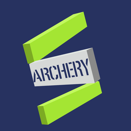 Text sign showing Archery. Conceptual photo Sport shooting with bow and arrows to a target Competition. Stock Photo