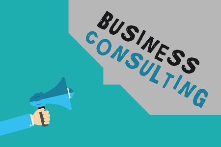 Writing note showing Business Consulting. Business photo showcasing Blends Practice of Academic Theoretical Expertise. Stock Photo