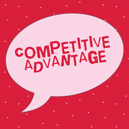 Word writing text Competitive Advantage. Business concept for Company Edge over another Favorable Business Position. 写真素材