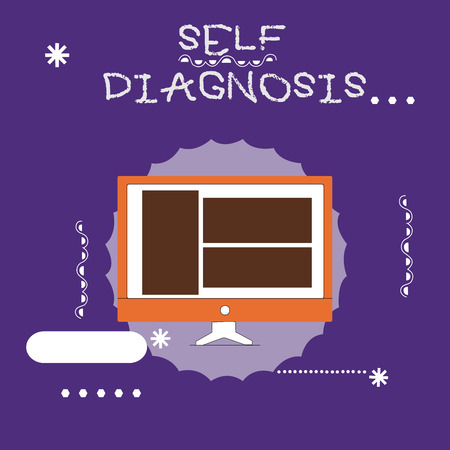 Writing note showing Self Diagnosis. Business photo showcasing The process of identifying medical conditions in oneself.