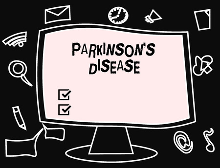 Text sign showing Parkinson s is Disease. Conceptual photo nervous system disorder that affects movement. 版權商用圖片 - 110089641