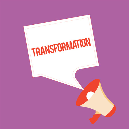 Text sign showing Transformation. Conceptual photo A marked change in form Takes into different level of success. Stock fotó