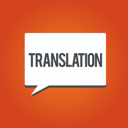 Writing note showing Translation. Business photo showcasing Process of translating words text from one language into another.