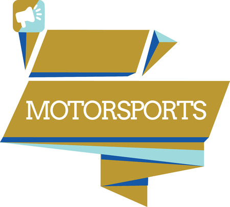 Word writing text Motorsports. Business concept for Competitive sporting events which involve motorized vehicles. 스톡 콘텐츠