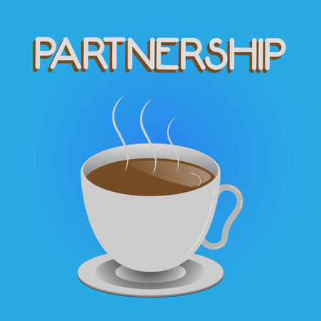 Writing note showing Partnership. Business photo showcasing Association of two or more showing as partners Cooperation Unity.