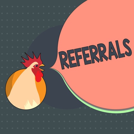 Text sign showing Referrals. Conceptual photo Act of referring someone or something for consultation review.