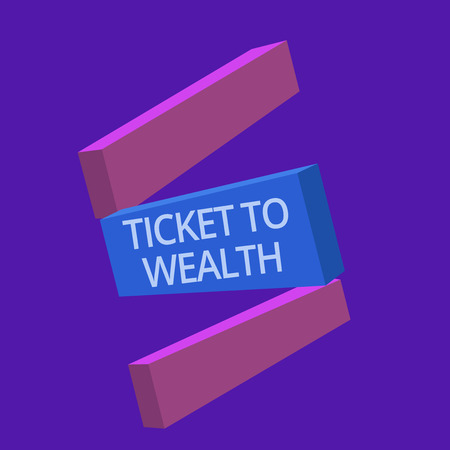 Handwriting text Ticket To Wealth. Concept meaning Wheel of fortune Passage to Successful and brighter future.