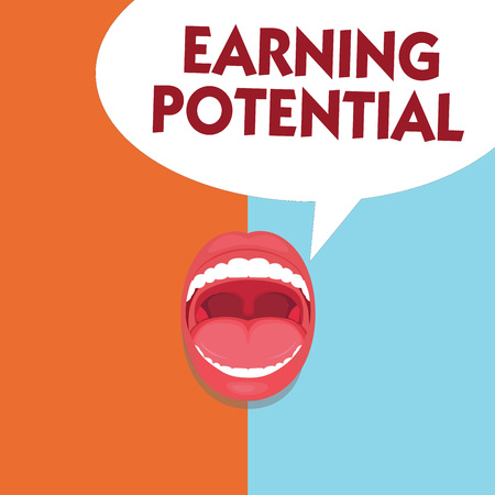Writing note showing Earning Potential. Business photo showcasing Top salary for a particular field or professional job.