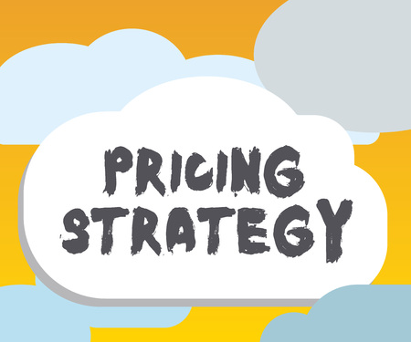 Word writing text Pricing Strategy. Business concept for set maximize profitability for unit sold or market overall.