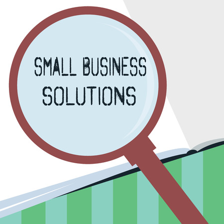 Word writing text Small Business Solutions. Business concept for a Company to solve Specific Trade problems.