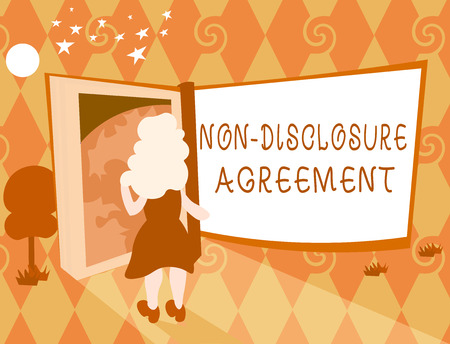 Word writing text Non Disclosure Agreement. Business concept for Legal Contract Confidential Material or Information. Stock fotó