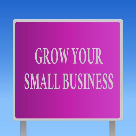 Écriture conceptuelle montrant la croissance de votre petite entreprise. Entreprise de texte photo d'entreprise génère des flux de trésorerie positifs.