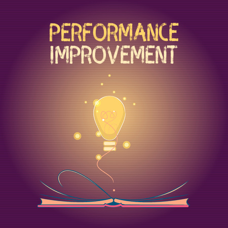 Conceptual hand writing showing Performance Improvement. Business photo text Measure and Modify the Output to increase efficiency.