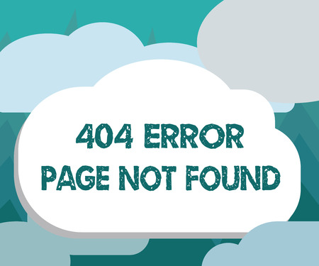 Conceptual hand writing showing 404 Error Page Not Found. Business photo showcasing Webpage on Server has been Removed or Moved.