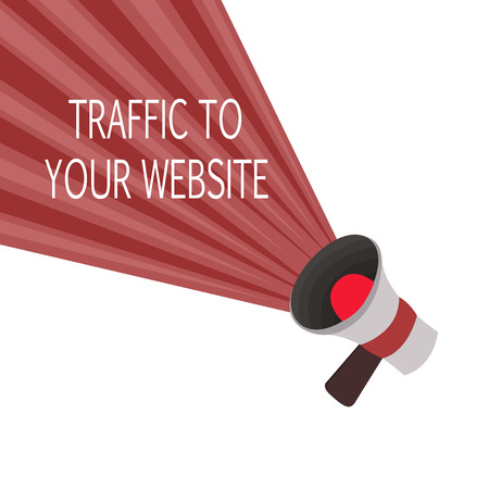 Word writing text Traffic To Your Website. Business concept for Lifeblood of online business more Potential Leads. Banco de Imagens