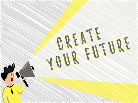 Word writing text Create Your Future. Business concept for Set Target and Career goals Plan ahead Reach out. Stock Photo