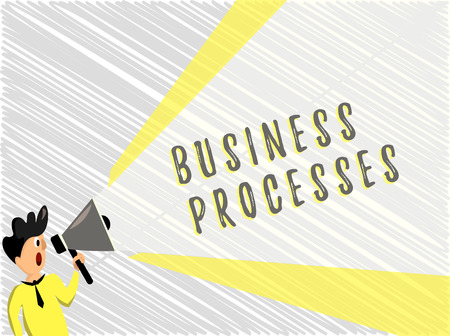 Word writing text Business Processes. Business concept for Methods practices involves in running a commerce. Stock Photo