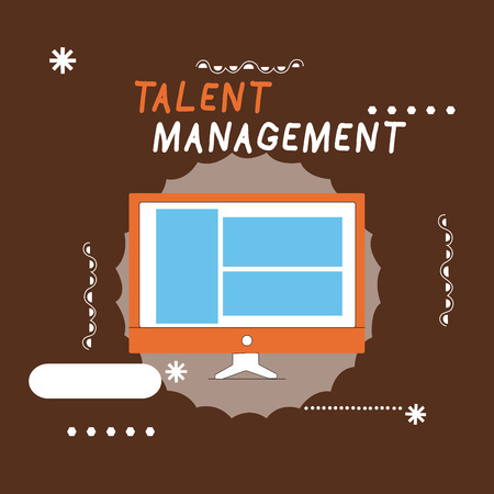 Writing note showing Talent Management. Business photo showcasing Acquiring hiring and retaining talented employees.