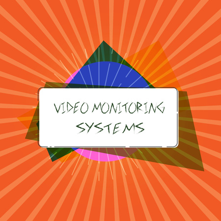 Conceptual hand writing showing Video Monitoring Systems. Business photo showcasing Surveillance Transmit capture Image to Digital Link.