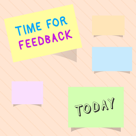 Word writing text Time For Feedback. Business concept for Need to response or give critic on something Evaluation. Stock Photo