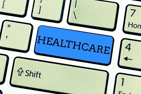 Handwriting text writing Healthcare. Concept meaning The provision of medical care to individuals Improve wellbeing.
