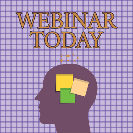 Conceptual hand writing showing Webinar Today. Business photo showcasing Presentation that takes place on the Internet Video conference.