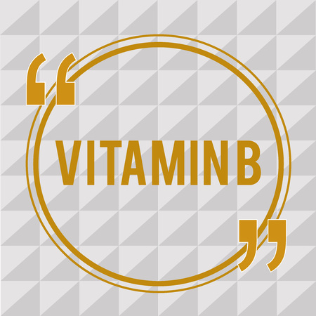 Handwriting text Vitamin B. Concept meaning Nutrient that helps keep the body nerve and blood cells healthy. Reklamní fotografie