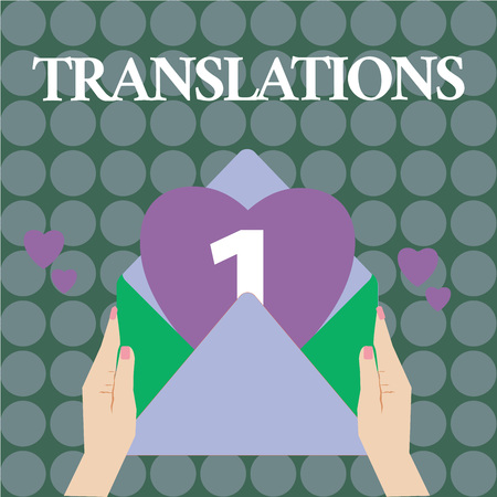 Word writing text Translations. Business concept for Process of translating texts from one language into another.