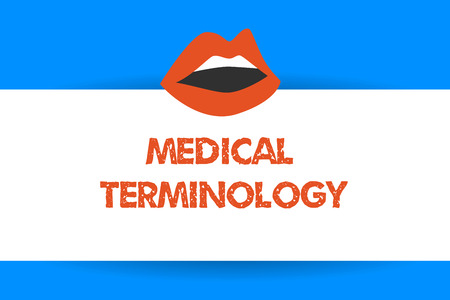 Writing note showing Medical Terminology. Business photo showcasing language used to precisely describe the huanalysis body. Stock Photo