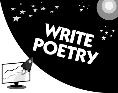Word writing text Write Poetry. Business concept for Writing literature roanalysistic melancholic ideas with rhyme.