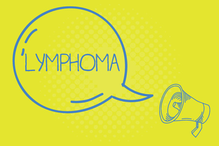 Word writing text Lymphoma. Business concept for Cancer that begins in infection fighting cells of the immune system. Stock Photo
